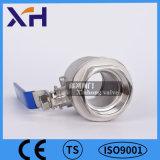 2PC Válvula de bola de acero inoxidable DN80