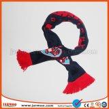 Шарф футбола футбола вентиляторов жаккарда 16X145cm 100% акриловый связанный