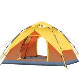 油圧自動キャンプテント、4人のキャンプテントを開く帽子のタイプ3-4の人