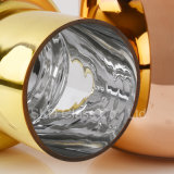 Tonalità saltata mano dorata di vetro dei pendenti