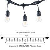 le lampadine 15PCS di 15m rendono gli indicatori luminosi resistente all'intemperie della stringa di S14 LED per la cerimonia nuziale del portico del cortile del patio