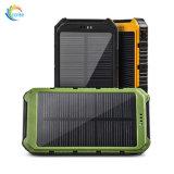 Logotipo personalizado Cargador solar portátil Banco de potencia de 8000mAh