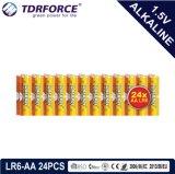 1.5volt primaire Droge Alkalische Batterij met Ce/ISO 24PCS/Pack 5 Jaar Van de Houdbaarheidsperiode (LR6/AM-3/AA)