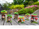 Garten-Dekoration Polyresin Gnomes-Statue-Blumen-Potenziometer