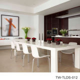Künstliche moderne Gaststätte-Steinmöbel-Speisetisch sitzt Sets vor
