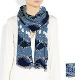 Senhoras Imprimir lenço de lã merino Fornecedor da China