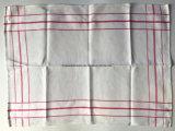 Esteira listrada vermelha do copo de toalha de chá do algodão do jacquard do produto da fábrica de China