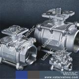 Un alto rendimiento rosca NPT/BSPT llena la cavidad de la válvula de bola flotante (P11F)