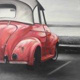 Nova chegada Handamde moderno pintura a óleo do carro azul