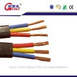 O PVC redondo/horizontalmente submergível da borracha do cabo isolou