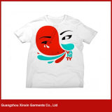 Camiseta de encargo de los hombres de la impresión con la tela del algodón o del poliester (R118)