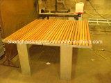 Banco de madera inoxidable/del metal de la calle del marco del asiento