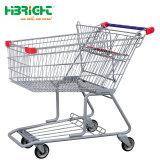Venta caliente supermercado Nuevo estilo de metal mano Empujar carro eléctrico Carro de compras