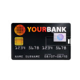 Personalizar a memória Pendrive do USB do OEM da movimentação do flash do USB do cartão de crédito
