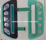 Kundenspezifisches Tastmetall wölbt sich Tastaturblock mit transparentem LED-Fenster