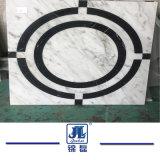 中国の古典的な魔法の立方体または煉瓦Compositedの背景の壁の大理石のタイル張りの床
