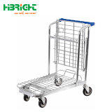 Heavy Duty Industrial almacén logístico de carros de mano de la cesta