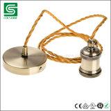 De uitstekende E27 Lamp van de Tegenhanger van het Plafond Lichte Vastgestelde met de Kabel van de Stof