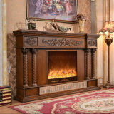 ヨーロッパの彫刻LEDは暖房の電気暖炉をつける