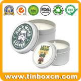 Geschenk-verpackenmetallrunder duftender Kerze-Zinn-Kasten für Arbeitsweg