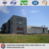 飲料の工場のための耐火性のプレハブの鉄骨フレームの建物の倉庫
