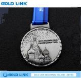 Le souvenir ouvre la récompense courante de module de finition de médaille en métal de marathon fait sur commande de médailles