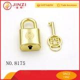 Золота металла оборудования замка сумки Padlock роскошного декоративный с ключом