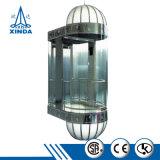 現代エレベーターのガラス小さく安い乗客の観察のエレベーター