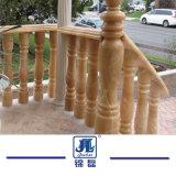 Natürlicher grauer/weißer/roter/dunkler Granit-/Marmorsteinbaluster/Balustrade mit Geländer-Handlauf