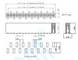 Tipo U pH: 1,27 H: 4.3 Conector Fêmea de fileira única plataforma fêmea SMT