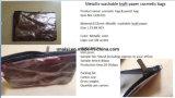 Papel Kraft lavável Pen bolsa cosmética Maleta de maquiagem de Higiene Pessoal