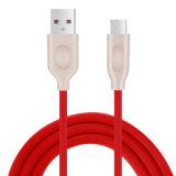 2.4A ayunan cable de datos de carga del USB del teléfono móvil de la TPE para Andorid