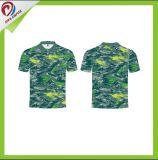 熱い販売の最上質のスポーツ・ウェア100%年のポリエステル昇華ポロシャツ
