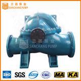 Double pompe centrifuge radialement dédoublée d'aspiration