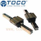 Trilho de guia linear com bloco da flange para a máquina do CNC