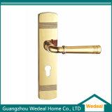 Porta de composto de madeira de PVC sólido para quarto / entrada com vidro