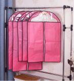 Valigia lunga dell'indumento del cotone del tessuto del panno del vestito Zippered PEVA per i vestiti