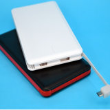 Cables incorporados para el iPhone y la batería 10000mAh de la potencia del teléfono de Andriod
