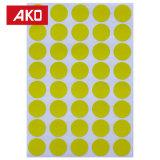 El OEM valida la escritura de la etiqueta auta-adhesivo de la etiqueta engomada del PUNTO colorido redondo portable del pedazo