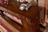 Il basamento europeo LED della scultura TV della mobilia del salone illumina il camino del riscaldamento