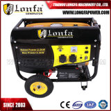 Generador portable de la gasolina de 2.5kVA Astra Corea con la maneta y las ruedas