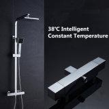 Regen van de Temperatuur van de vierhoek zet de Intelligente Constante Chroom Geplateerde Douche onder druk