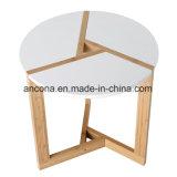 Tabela de extremidade de bambu do café, Tabletop moderno redondo da sala de visitas