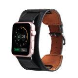 Cinta de relógio do couro genuíno do punho da alta qualidade para a faixa de relógio de Apple