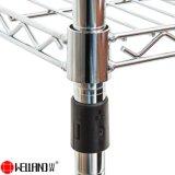 Регулируемая хром металлический провод для хранения стеллажи для монтажа в стойку на заводе/склад