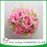 Tela de seda ARTIFICIALES flores boda decoración bola Colgante bola rosa