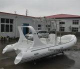 Le ce rigide de luxe de bateaux de bateaux de vitesse de Liya 19feet Chine a reconnu