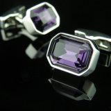 Cufflinks 175 Gemelos рубашки VAGULA пурпуровые кристаллический французские
