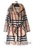 La calidad de alta moda mujer invierno cálido abrigo de lana Hoody