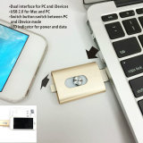 Новые прибывают Мода 2 в 1 яблоко OTG жесткие диски USB